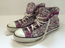 """Converse Chuck Taylor Custom Embroidered """"LAURA"""" Double Tongue Purple Size 11"""