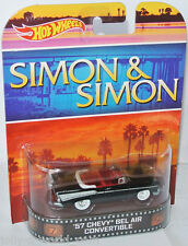 Retro Entertainment 1957 CHEVY BEL AIR CONV. * Simon & Simon * 1:64 HOT WHEELS