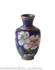 Antico Vasetto Orientale Cloisonnè Oriental Ancient Old Antique Vase Cina H.5cm