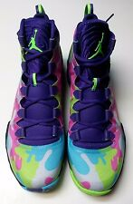 Air Jordan XX8 SE Camo Bel Air Men's size 12.5 Hot Pink Lime Gamma Blue