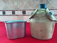 WW2 USMC 2nd pattern Canteen Cup Cover Set WWII Marine Corps Early & Scarce Rare