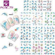 11 sheets/lot Lovely Dolphin Nail Art Stickers Water Transfer Decal BLE2391-2401