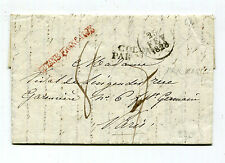 "French Guiana 1828 Stampless Cover to France - Red ""GUYANE FRANCAISE"""