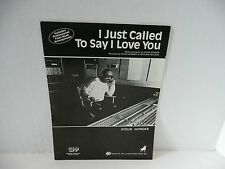 "Vintage 1980's Sheet Music ""I JUST CALLED TO SAY I LOVE YOU""  by Stevie Wonder"
