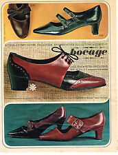 PUBLICITE ADVERTISING  1965   BOCAGE  chaussures collection automne-hiver
