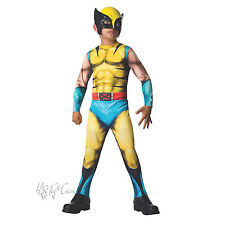 NWT Marvel Universe Classic WOLVERINE Muscle Halloween Boy Costume L(12-14)