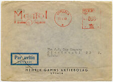 SWEDEN METER FRANKING ADVERTISING 1948 MANIOL...UPPSALA to CINCINNATI