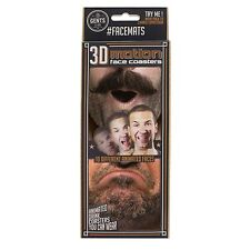 Face Mats Different Faces hilarious beer mats clip on nose Coasters 3D Double