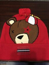 EXCLUSIVE PLAY CLOTHS SUNBEAR BEANIE IN HEATHER RED!! Stussy Supreme NWT $49.00