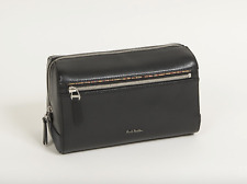 Paul Smith Leather Wash Bag - BNWT Pebble Embossed Stripe Trim /RRP:£245
