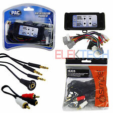 Car Audio Radio Auxiliary Input Adapter Interface Unit & Aux/RCA Cable Extender