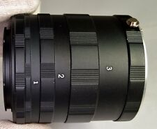 Lens Macro Ring Extension Tube Set Kit 7mm 14mm 28mm for Nikon F Close-Up Macro