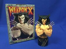 MARVEL BOWEN DESIGN ORIGINAL WEAPON X WOLVERINE MINI BUST STATUE LIMITED ED 2001