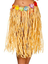 Adulti Naturale Hawaiano Estate ERBA Fancy Dress Party Hula Gon na lunga 60 cm