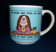 Coffee Mug Cup Go Ahead Steal My Pens None Work Anyway Office Worker Humorous
