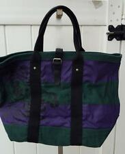Ralph Lauren Rugby tote bag canvas nwt $79.50 green purple buckle