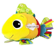 Baby Developmental Soft Stuffed Plush Feel Me Fish Attach Crinkle Squeaky Toys