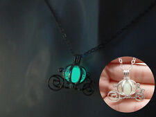 COLLANA CENERENTOLA CARROZZA FOSFORESCENTE CARRIAGE CINDERELLA CIONDOLO NECKLACE