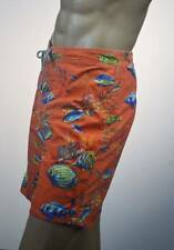 Ralph Lauren Orange Tropical Fish Swim Suit Surf Board Trunks/ Pony NWT-Medium