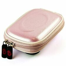 Metallic Pink Carabiner Cube Digital Camera Case for Canon PowerShot ELPH 300 HS