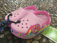 NEW YEAR SALE! Crocs CrocsLights Rainbow Heart Clogs Ballerina Pink C7