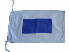 "S - Naval Signal Flag - 100% Cotton – Marine Code - 8"" X 13"" - Nautical / Boat"