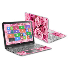 "Skin Decal Wrap for HP Envy x360 15.6"" (2014 Version) Laptop Pink Roses"