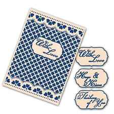 Tattered Lace Interchangeable Embossing Folder - Lacy Grid - EF013 - NEW