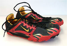 New Nike track and field shoes sz 6 mens senior red black cleats &