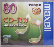 Maxell JAPAN Blank CD-RW Digital Audio Music 80min CDRWA80MQ.1TP