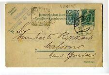 1905 cart.postale da VARONE (TRENTINO AUSTRIACO)+MALCESINE TONDO QUADRATO-f746
