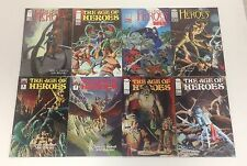 LOT OF 8 AGE OF HEROES #1-5 + SPECIAL EDITION WEX SET/RUN HALLOWEEN + IMAGE!