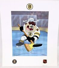Looney Tunes BOSTON BRUINS Warner Bros TAZ HOCKEY Slapshot Litho