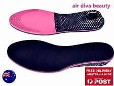 Lady Woman Pink Height Increase Foot Heel Support Insole Shoes Air Cushion Pads