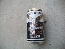 Antique Vintage RARE Harley Davidson Comemretive 1993 Daytona Full Beer Can