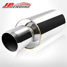 "4.5"" DOMED TIP 3"" INLET ROUND STAINLESS STEEL MUFFLER FIT UNIVERSAL"