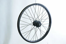 "20"" DISC BRAKE FRONT WHEEL BLACK ALEX 406 - 24 WIDE TYRE RIM BMX KIDS BIKE"