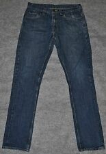 LEVI'S 511 SKINNY FIT STRAIGHT JEAN w/ Zip Pockets Dark Blue Denim 32 x 34 Jeans