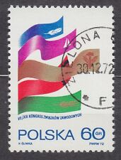 POLAND 1972 USED SC#1929 VII / XIII Congress of the Polish Trade Unions.