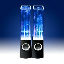 Dancing Water Speakers X 2 LED Music Jet Light For iPod iPhone iPad PC Black