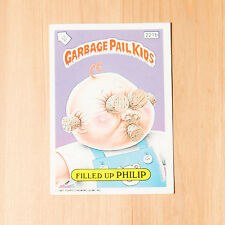 Vintage Garbage Pail Kids 1986 UK Sticker Collectors Card Filled Up Philip 221b