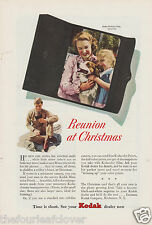 Kodak Film Mini Color Prints Soldier Reunion at Christmas Vintage  Print Ad 1943