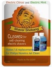 6.4 Philips Norelco Jet Clean HQ200 Bottle Replacements-Citrus & Mint