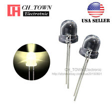 50pcs 10mm LED Water Clear Warm White Light Emitting Diodes Round Top USA