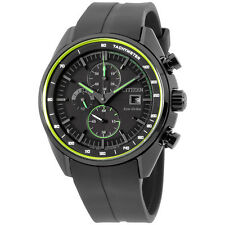 Citizen Eco Drive CA0595-11E Chronograph Ion Plated Case Black Rubber Mens Watch