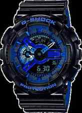 Casio G-Shock Black/Blue Punching Pattern Series Sports Watch - GA110LPA-1A