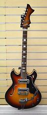 Vintage 1960's Sekova Archtop Sunburst Hollow Body Electric Guitar w/ Tremolo