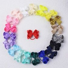 "Handmade 20 Color 3"" 20pcs Hair Bow Elastic Lovely Baby Hair Accessories E008"