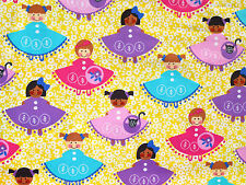 DOLLS  GIRLS  ITS A SMALL WORLD  AROUND THE WORLD  MICHAEL MILLER  FABRIC  YARDS