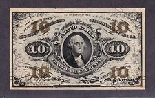 US 10c Fractional Currency FR 1255 Ch CU